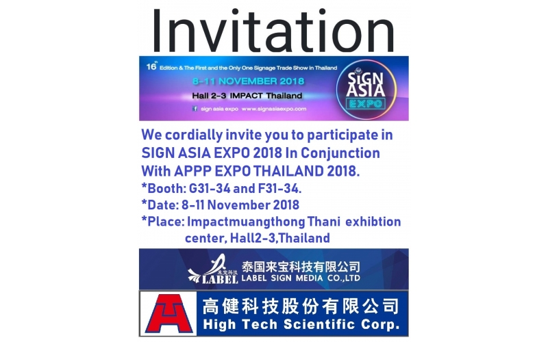 Sign Aisa 2018 in Thailand